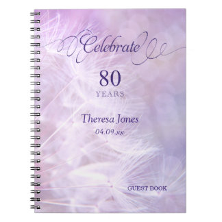 80th Birthday Party Guest Book Notebook