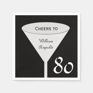 80th Birthday Party Paper Napkins