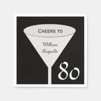 80th Birthday Party Paper Napkins Disposable Serviette