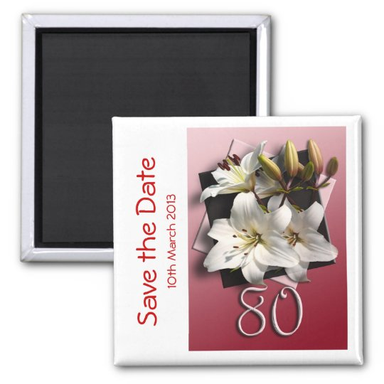 80th birthday party Save the Date Magnet