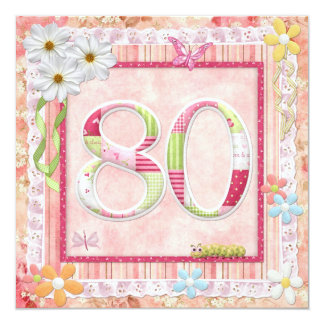 80th birthday party scrapbooking style card