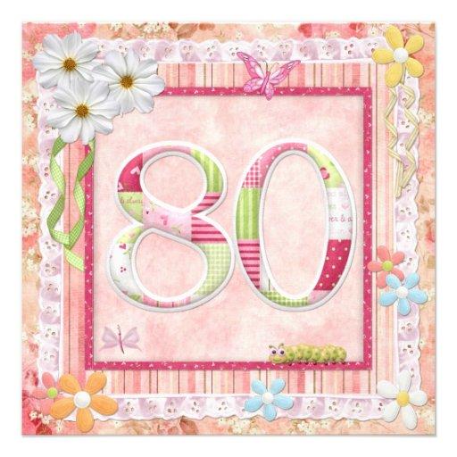 Celebrate 80th birthday party invitations ideas