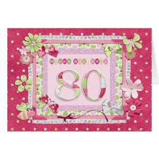 80th birthday scrapbooking style card