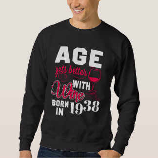 80th Birthday T-Shirt For Wine Lover.