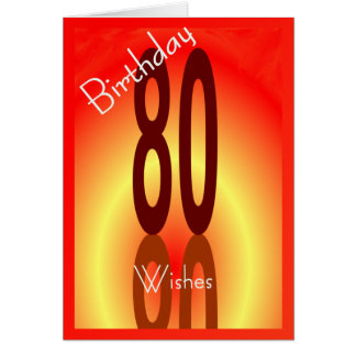 80TH Birthday Wishes Card for Anyone