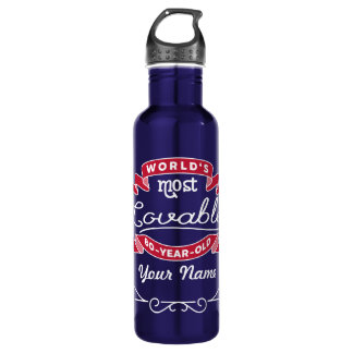 80th Birthday World's Most Lovable 80-Year-Old 710 Ml Water Bottle