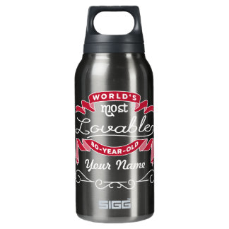 80th Birthday World's Most Lovable 80-Year-Old Insulated Water Bottle