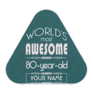 80th Birthday Worlds Best Fabulous Dark Green