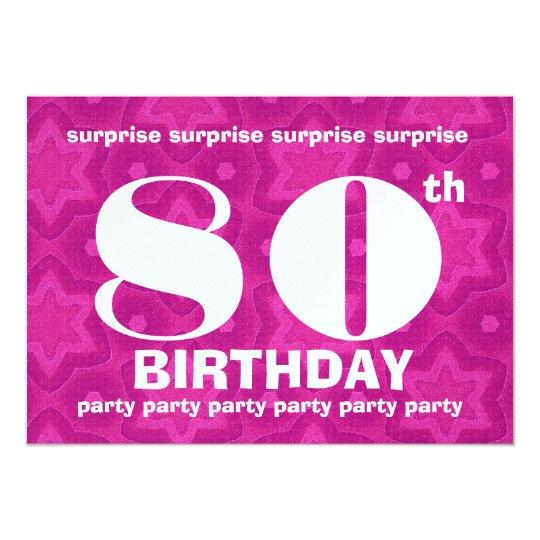 80th SURPRISE Birthday Big Bold and Geometric Card