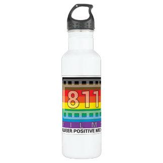 811 Films New Rainbow Logo Water Bottle 24 oz.