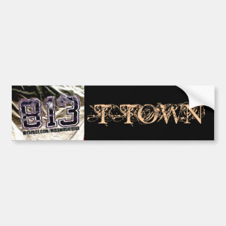 813 T-TOWN Bumper Sticker