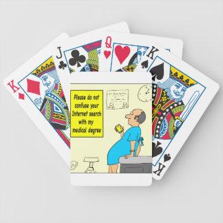 815 medical degree cartoon poker deck