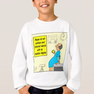 815 medical degree cartoon sweatshirt