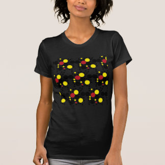818 RED WHITE BLACK RED POLKA DOTS BACKGROUNDS WAL TEE SHIRT