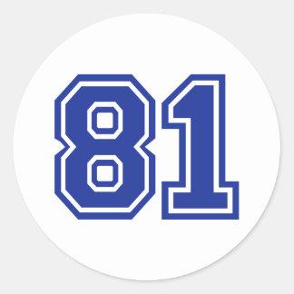 81 - number round sticker