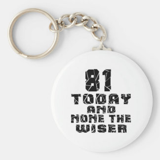 81 Today And None The Wiser Basic Round Button Key Ring