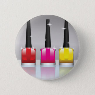 81Nail Polish Bottle_rasterized 6 Cm Round Badge