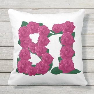 81st Anniversary Outdoor Throw Pillow