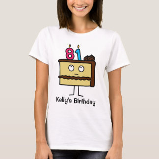 81st Birthday Cake with Candles T-Shirt