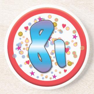 81st Birthday Drink Coaster