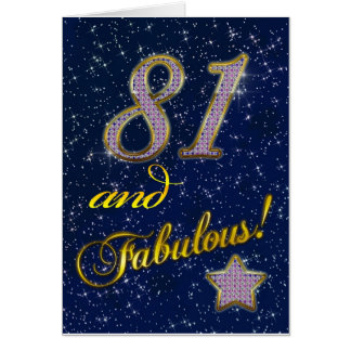 81st birthday for someone Fabulous Card