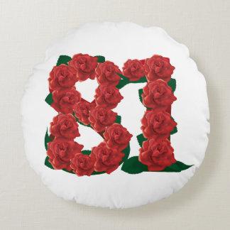 """81st Birthday Round Throw Pillow (16"""")"""