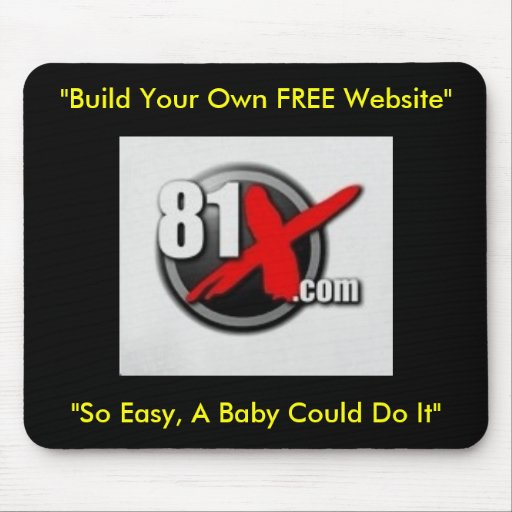 """81x  """"Build Your Own FREE Website"""" Mouse Mat"""