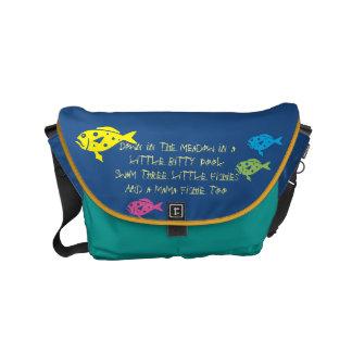 $ 82,95 / € 71,75  Three Fishies song School Bag Messenger Bag