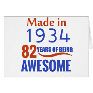 82 birthday design card
