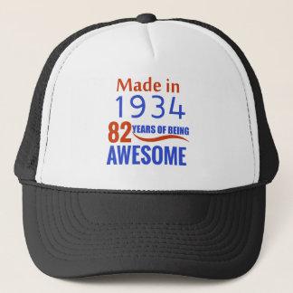 82 birthday design trucker hat