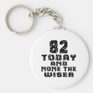 82 Today And None The Wiser Basic Round Button Key Ring