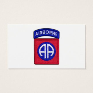 82nd ABN Airborne Div Vets LRRP Business Card