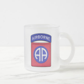 82nd ABN Airborne Division LRRP Veterans Vets Frosted Glass Coffee Mug