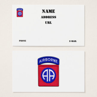 82nd ABN Airborne Division vets veterans patch Business Card