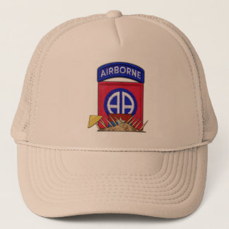 82nd ABN Airborne Division Vietnam War Vets Patch Trucker Hat