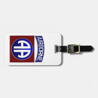 82nd Airborne Division All American Combat Patch Luggage Tag