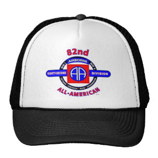 """82ND AIRBORNE DIVISION """"ALL AMERICAN"""" DIVISION TRUCKER HAT"""