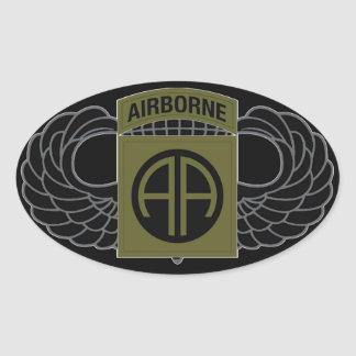 "82nd Airborne Division ""All American"" - SUBDUED Oval Sticker"