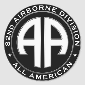 82nd Airborne Division Casual Patch Round Sticker