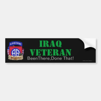 82nd airborne division iraq vets bumper sticker
