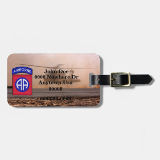 82nd airborne division patch luggage tag