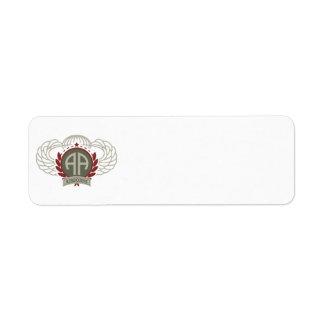 82nd Airborne Division Return Address Label