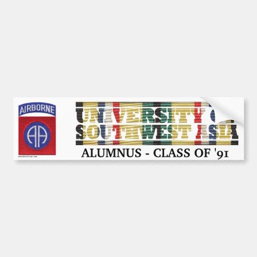 82nd Airborne Division U of Southwest Asia Sticker Bumper Sticker