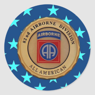"82ND AIRBORNE DIVISION ""USARMYFANMERCH""  ""U.S. Arm Classic Round Sticker"