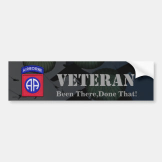 82nd airborne division veterans bumper sticker
