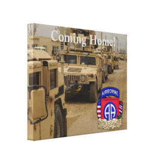 82nd airborne division veterans vets gulf war canvas print