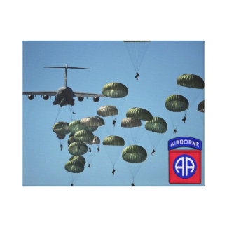 82nd airborne division veterans wrapped canvas