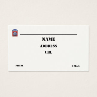 82nd Airborne Division vets patch business Card