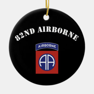 82nd Airborne Insignia Round Ceramic Decoration