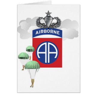 82nd Airborne, Paratroopers, Senior Jump Wings Card